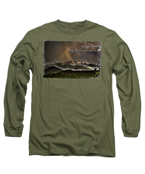 Long's Peak In Haze Long Sleeve T-Shirt