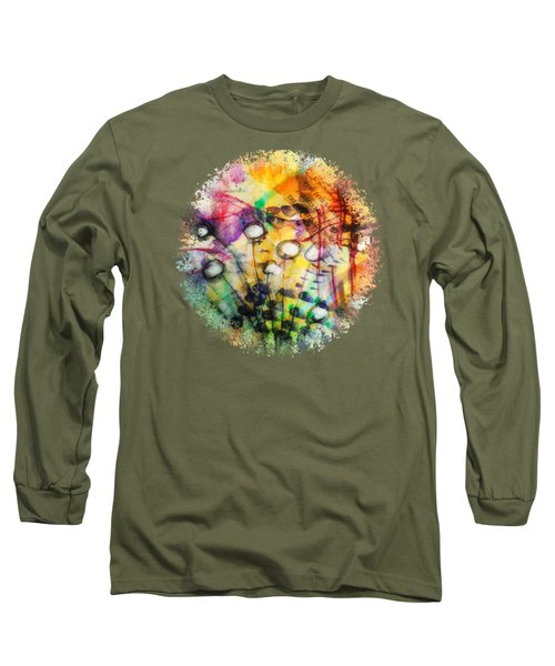Long Sleeve T-Shirt featuring the mixed media Look Around by Mimulux patricia no No