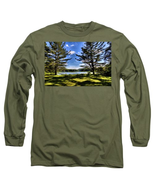 Looking At The Moose River Long Sleeve T-Shirt by David Patterson