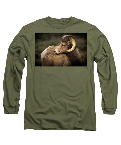 Looking Back - Bighorn Sheep Long Sleeve T-Shirt