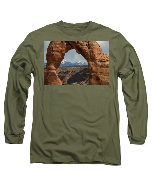 Looking Through Delicate Arch Long Sleeve T-Shirt
