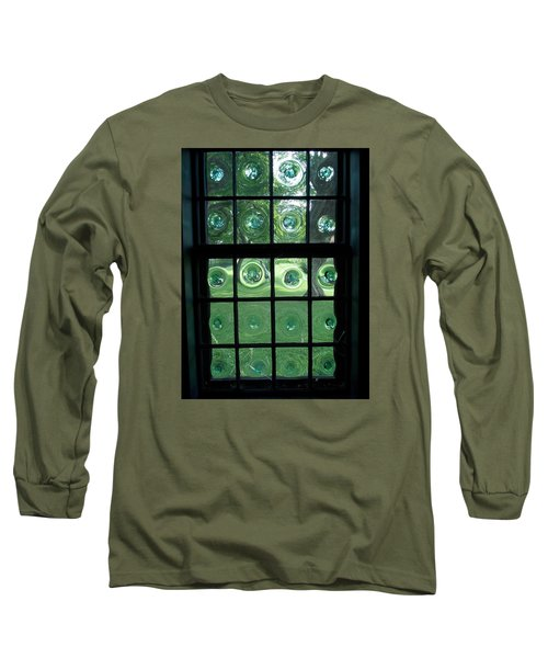 Looking Thru Bubble Glass Window Long Sleeve T-Shirt by Catherine Gagne
