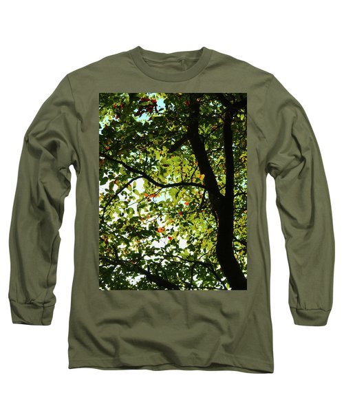 Looking Thru The Leaves Three Long Sleeve T-Shirt