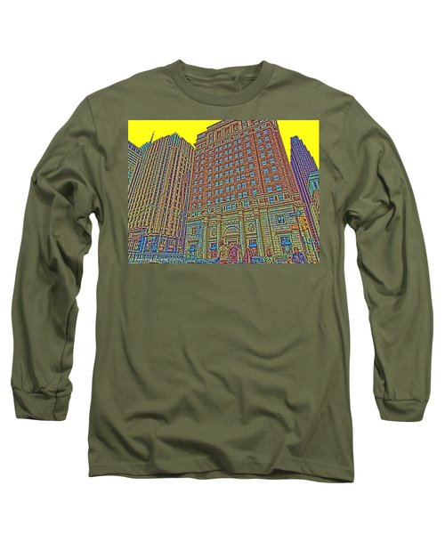 Looking Up In Love Park Long Sleeve T-Shirt