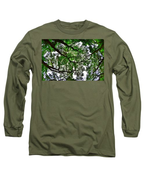 Looking Up The Oaks Long Sleeve T-Shirt