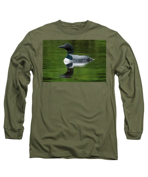Loon Reflections On The Lake Long Sleeve T-Shirt