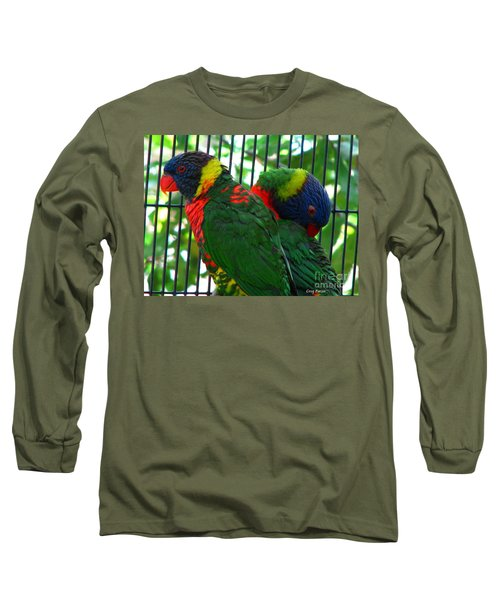 Long Sleeve T-Shirt featuring the photograph Lory by Greg Patzer
