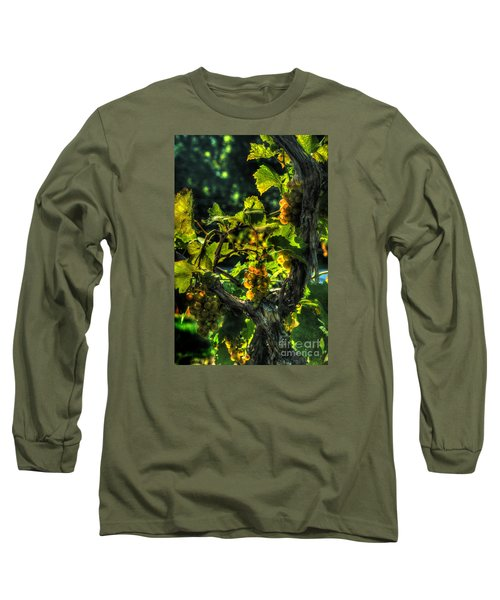 Long Sleeve T-Shirt featuring the digital art Lost Creek Chardonel by William Fields