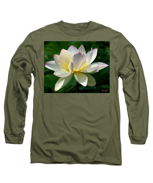 Lotus Beauty--disheveled Dl061 Long Sleeve T-Shirt