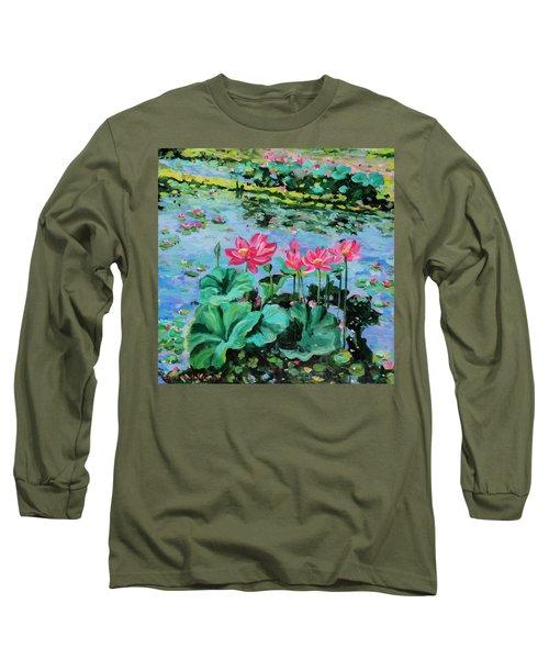 Lotus Long Sleeve T-Shirt by Alexandra Maria Ethlyn Cheshire