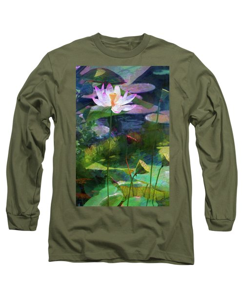 Lotus Long Sleeve T-Shirt by John Rivera