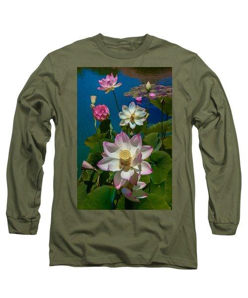 Lotus Pool Long Sleeve T-Shirt by Chris Lord