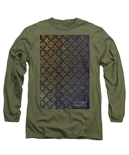 Louis Vuitton Black And Gold Monograms Long Sleeve T-Shirt