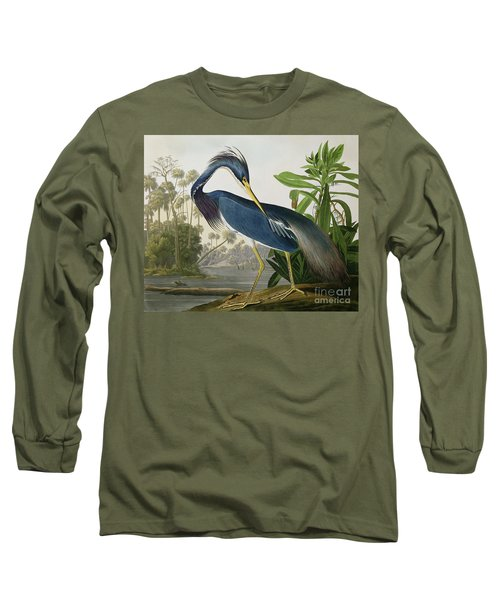 Louisiana Heron Long Sleeve T-Shirt