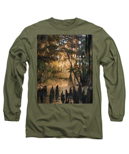 Louisiana Swamp - Early Morning Light Long Sleeve T-Shirt