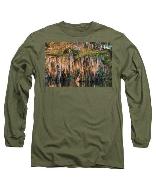 Louisiana Swamp Giant Bald Cypress Trees Two Long Sleeve T-Shirt