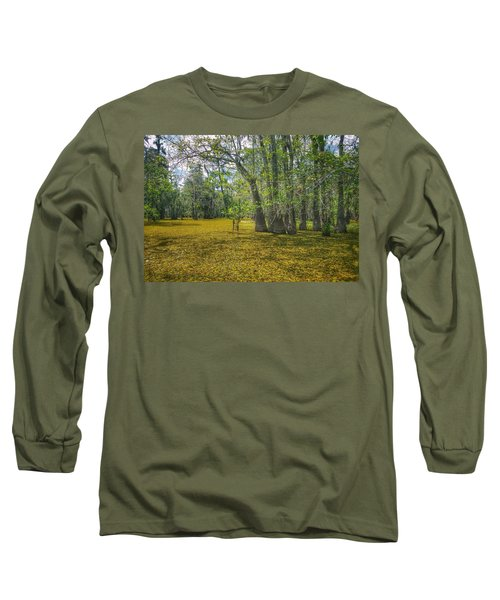 Louisiana Swamp In Gold Long Sleeve T-Shirt
