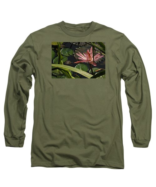 Louisiana Waterlilly Long Sleeve T-Shirt by Ronald Olivier
