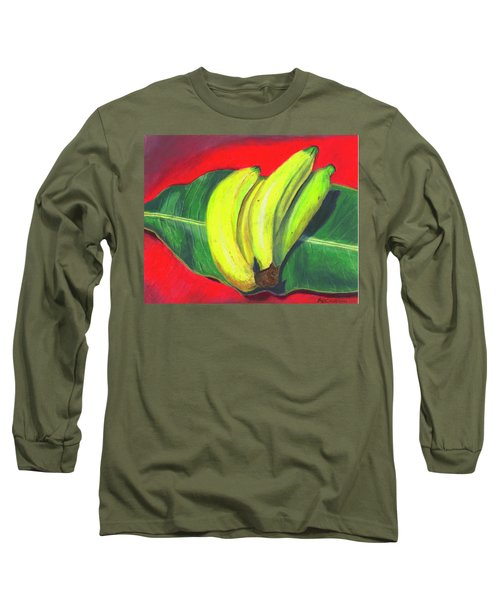 Lovely Bunch Of Bananas Long Sleeve T-Shirt by Arlene Crafton