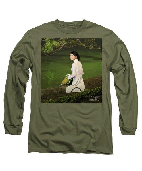 Lovely Vietnamese Woman  Long Sleeve T-Shirt by Chuck Kuhn