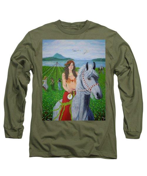 Lover / Virgin Goddess Rhiannon - Beltane Long Sleeve T-Shirt