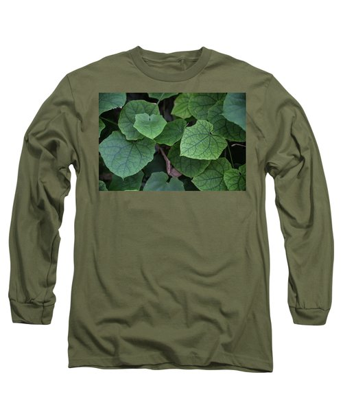 Low Key Green Vines Long Sleeve T-Shirt by Jingjits Photography