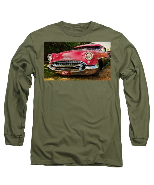 Long Sleeve T-Shirt featuring the photograph Low Rider Olds by Trey Foerster