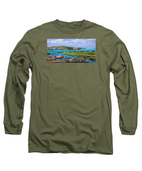 Low Tide Long Sleeve T-Shirt by Mike Caitham