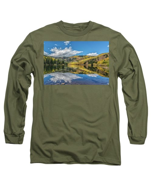 Lower Cataract Lake Aspen Long Sleeve T-Shirt by Stephen Johnson