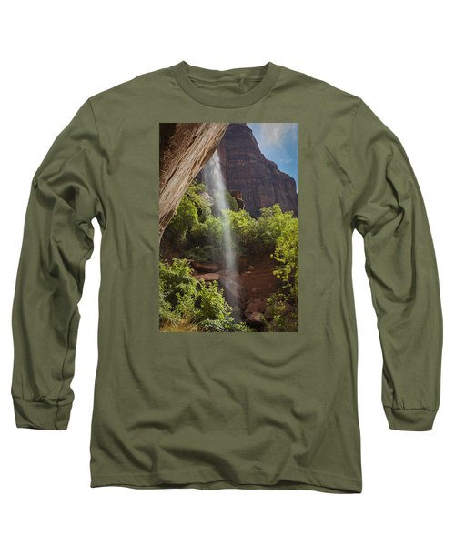 Lower Emerald Pool Falls In Zion Long Sleeve T-Shirt