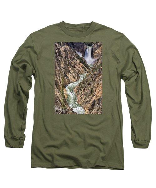 Lower Falls Long Sleeve T-Shirt by John Gilbert