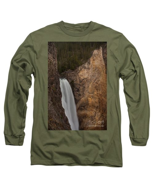 Lower Yellowstone Waterall Long Sleeve T-Shirt
