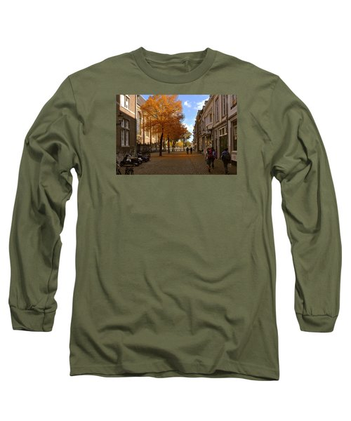 Little Lady Mary Square In October Maastricht Long Sleeve T-Shirt by Nop Briex