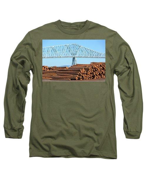 Lumber Mill In Rainier Oregon Long Sleeve T-Shirt