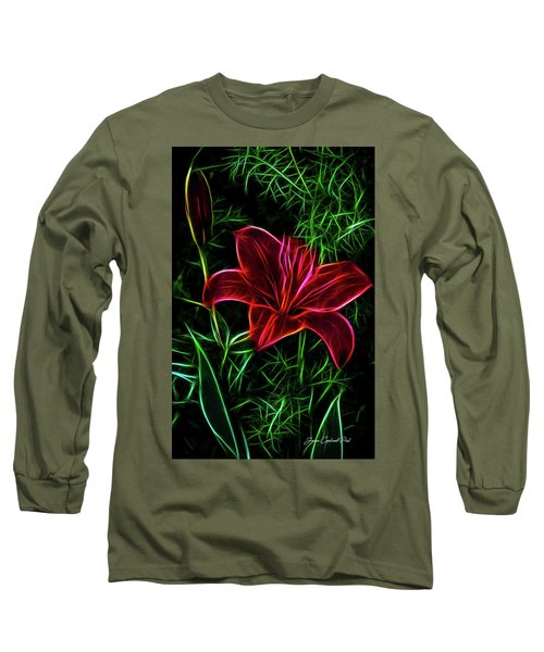 Luminous Lily Long Sleeve T-Shirt by Joann Copeland-Paul