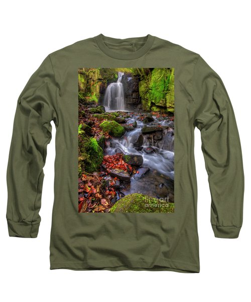 Long Sleeve T-Shirt featuring the photograph Lumsdale Falls 4.0 by Yhun Suarez