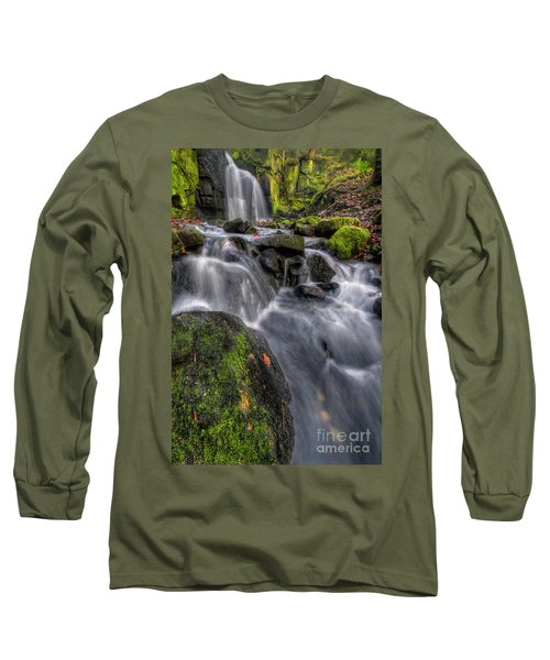 Long Sleeve T-Shirt featuring the photograph Lumsdale Falls 5.0 by Yhun Suarez