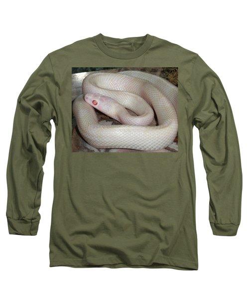 Luna White Snake Long Sleeve T-Shirt