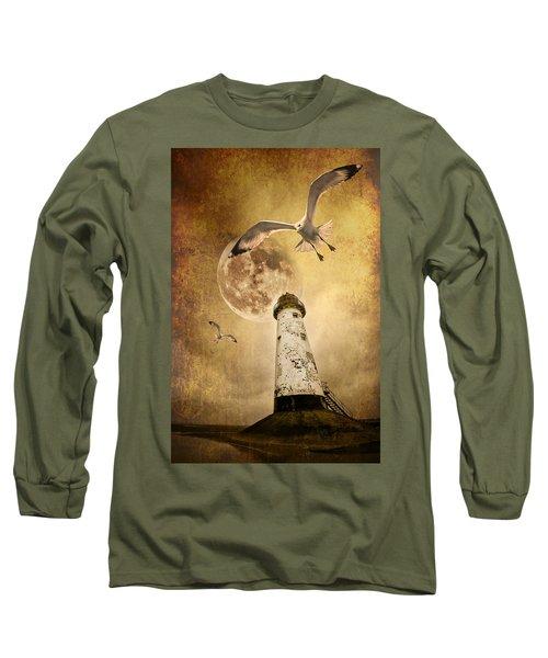 Lunar Flight Long Sleeve T-Shirt by Meirion Matthias