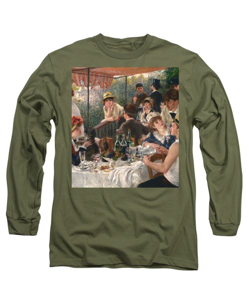 Long Sleeve T-Shirt featuring the painting Luncheon Of The Boating Party By Renoir by Pierre Auguste Renoir