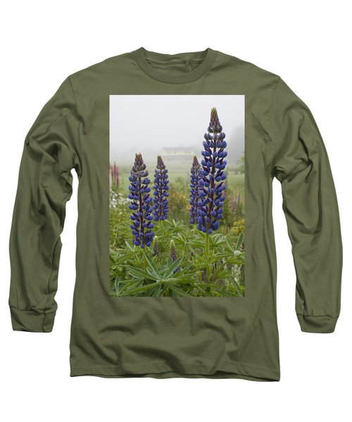 Lupine In The Fog Long Sleeve T-Shirt