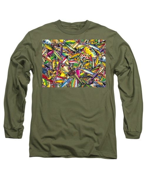 Lure Collage Long Sleeve T-Shirt by Jon Q Wright