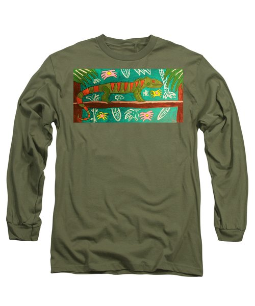 Lurking Iguana Long Sleeve T-Shirt