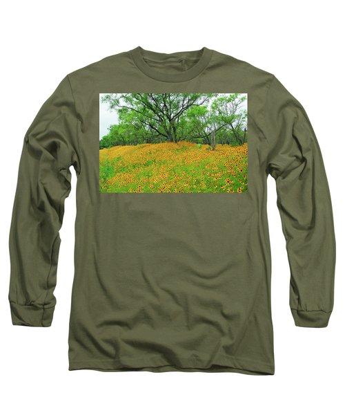 Lush Coreopsis Long Sleeve T-Shirt by Lynn Bauer