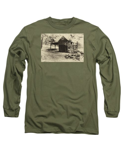 Long Sleeve T-Shirt featuring the photograph Luxenhaus Cow Barn by William Fields