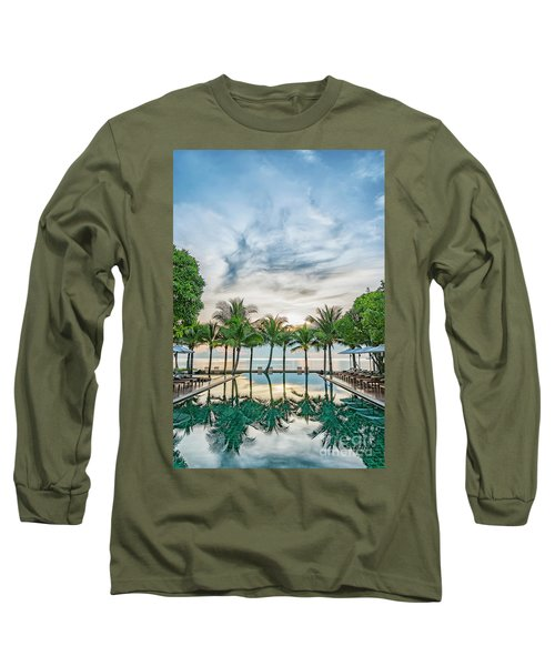 Long Sleeve T-Shirt featuring the photograph Luxury Pool In Paradise by Antony McAulay