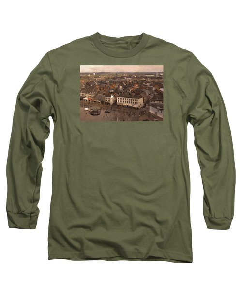 Long Sleeve T-Shirt featuring the painting Maastricht Direction East by Nop Briex