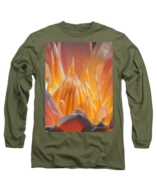 Macro Water Lily Long Sleeve T-Shirt by Chad and Stacey Hall