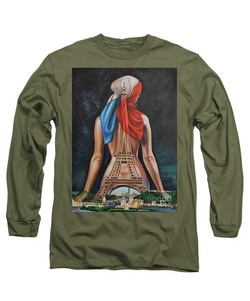 Madame Eiffel Long Sleeve T-Shirt by Jorge L Martinez Camilleri