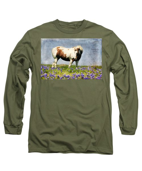 Made With Love From Texas Long Sleeve T-Shirt by Joan Bertucci